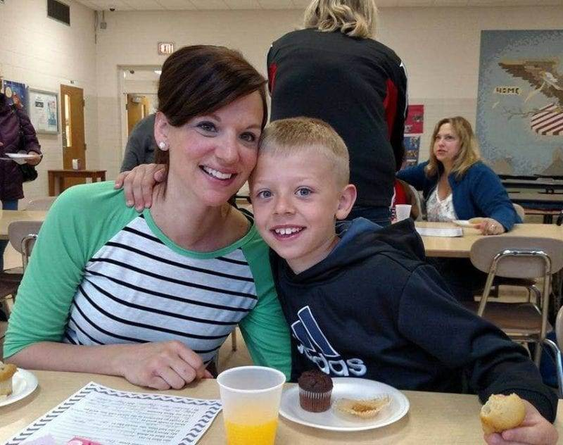North Central First Graders Enjoy Muffins With Mom