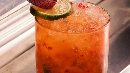 Cocktail Recipe: Strawberry Caipirinha