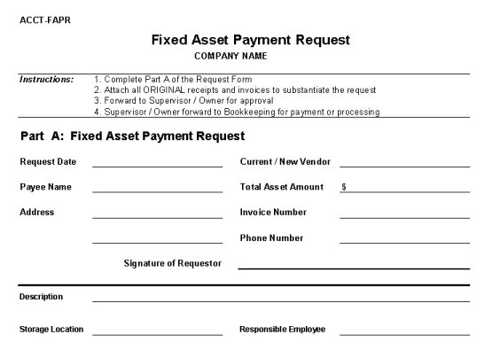 Fixed Asset Payment Request Form - Vitalics