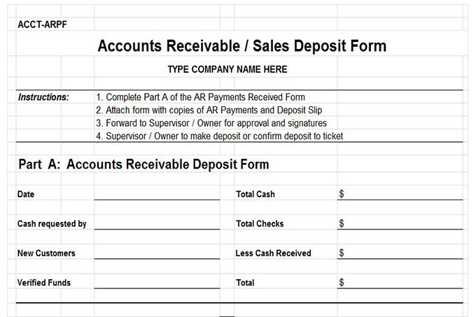 Top Result 60 Awesome Accounts Receivable forms Templates Gallery