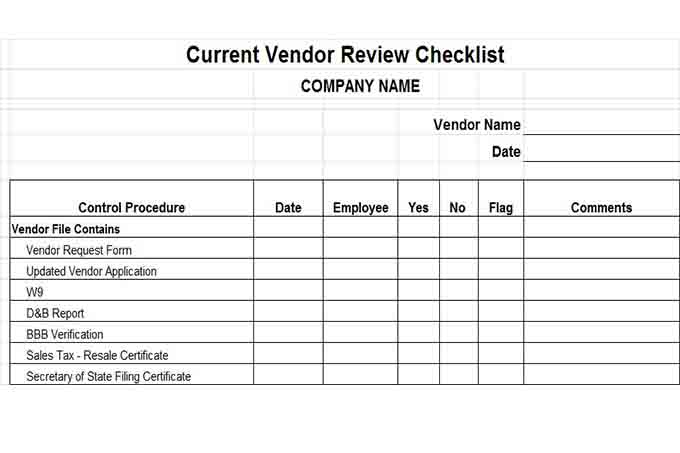 Internal Control Procedures for Small Business Checklist