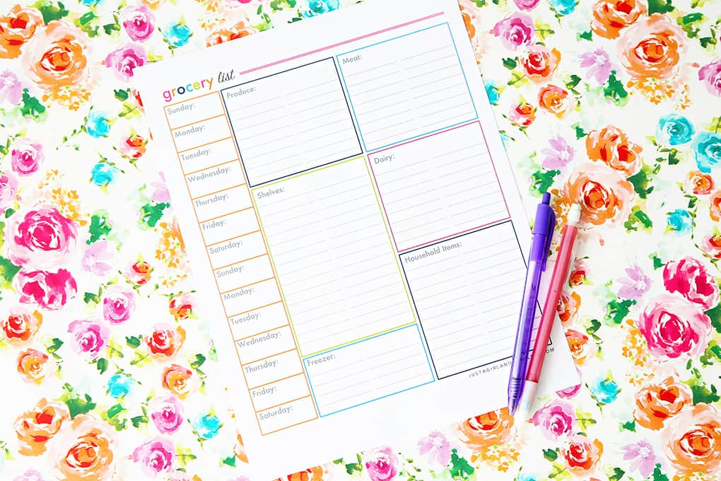 10 Best Grocery List Templates  Meal Plans FREE Printables