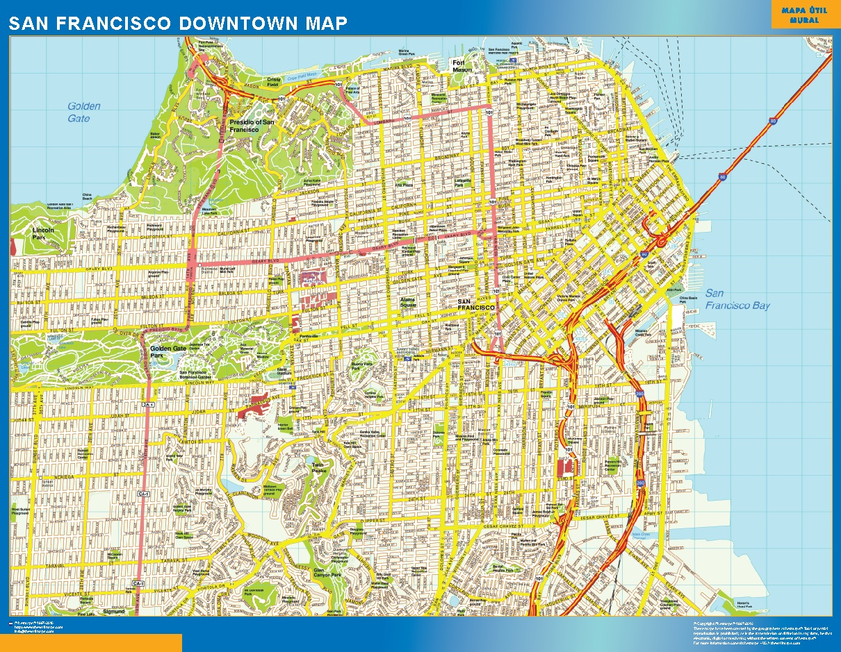 look our special san francisco downtown map