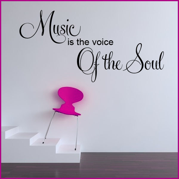 Inspirational Quotes Clean Wallpaper Music Is The Voice Of The Soul Wall Sticker Decals