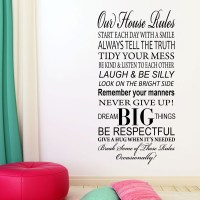 Our Family House Rules Wall Sticker Wall sticker decals