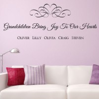 Personalised Grandchildren Bring Joy to our Hearts Wall ...