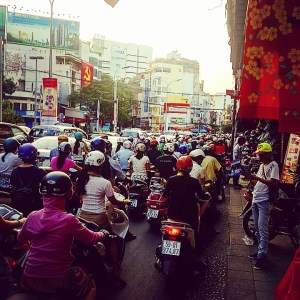 Motorbikes on Motorbikes in Saigon