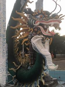 The Dragon statue in the Suoi Cat amusement park was the most normal of them all