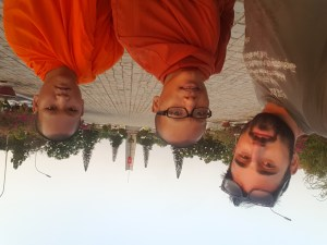 I took a photo with these monks at a war cemetery, but there were the ones that first approached me to do so.