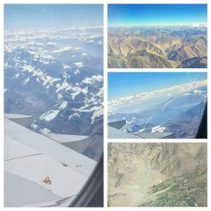 Got the chills flying to Leh when I realized I was over the Himalayas! Even from so high up, you can feel a presence. It's incredible how big these mountains are. Flying over them, they seemed so close to the plane that I felt I could jump out and land safely.