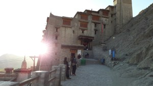 The Leh Palace at sunset