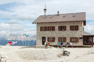 The quaint but well provisioned Kostner Rifugio at the end of our Dolomites Hike