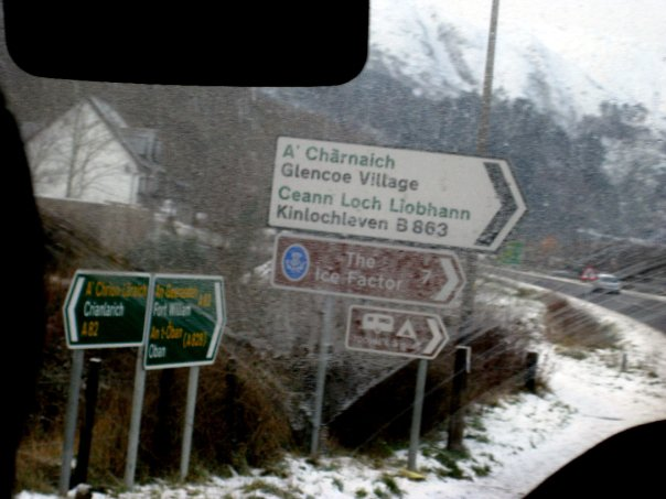 Gaelic Road Signs, Scottish Highlands