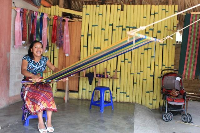 Mayan Weaving in San Juan La Laguna, Lake Atitlan