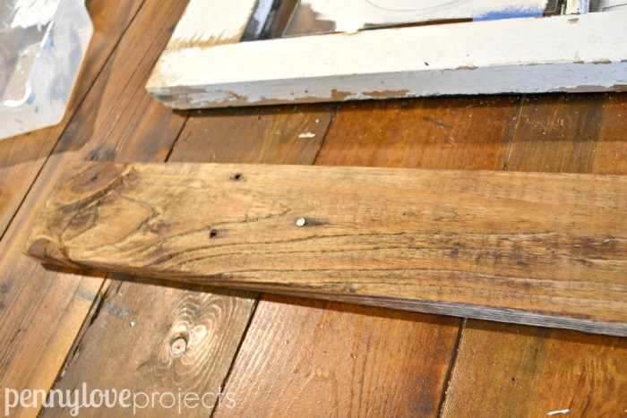 Shelf stained with Minwax Early American