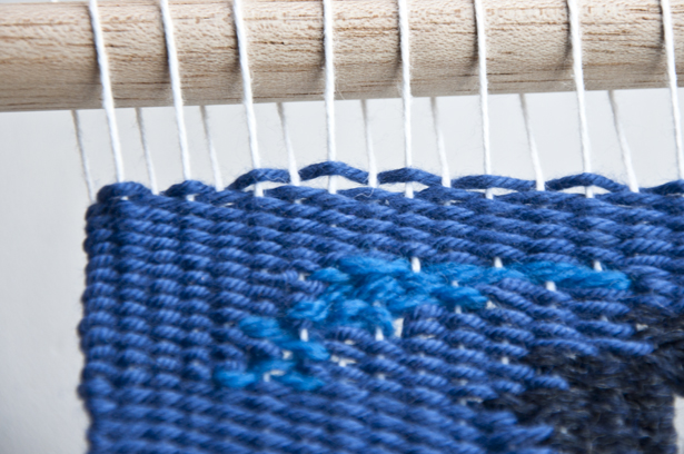 how to finish a weaving loom
