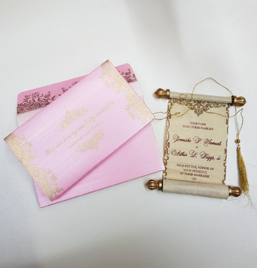 Buy Scroll Wedding Cards from #1 Wedding Invitations Store