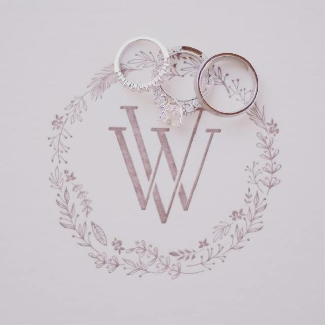 Clever monogram for Vania and Wilsons wedding When two becomehellip