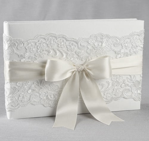 Chantilly Lace Wedding Guest Book Wedding Guest Book - guest books wedding