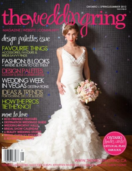 Anne Edgar Photography Magazine Cover of The Wedding Ring Magazine