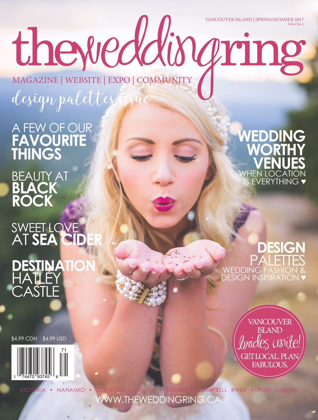 The Wedding Ring Magazine Vancouver Island | Spring Summer 2017
