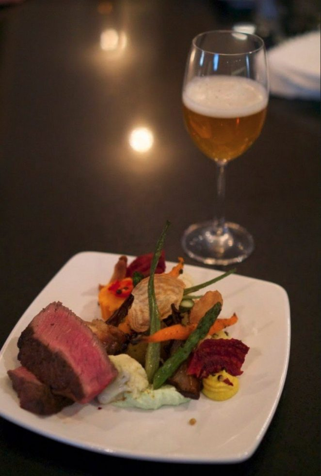 You and your groom already make the perfect pair—your wedding dish and beverage choice shouldn't be any different! When a beer and dish are perfectly paired, the synchrony of flavours elevate the entire dining experience. Here, Sofie's white pepper notes enhance the steak's peppercorn finish perfectly. Photo by: Labatt Breweries of Canada