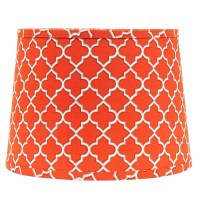 10 inch Orange Quatrefoil Drum Lamp Shade, by Raghu - The ...