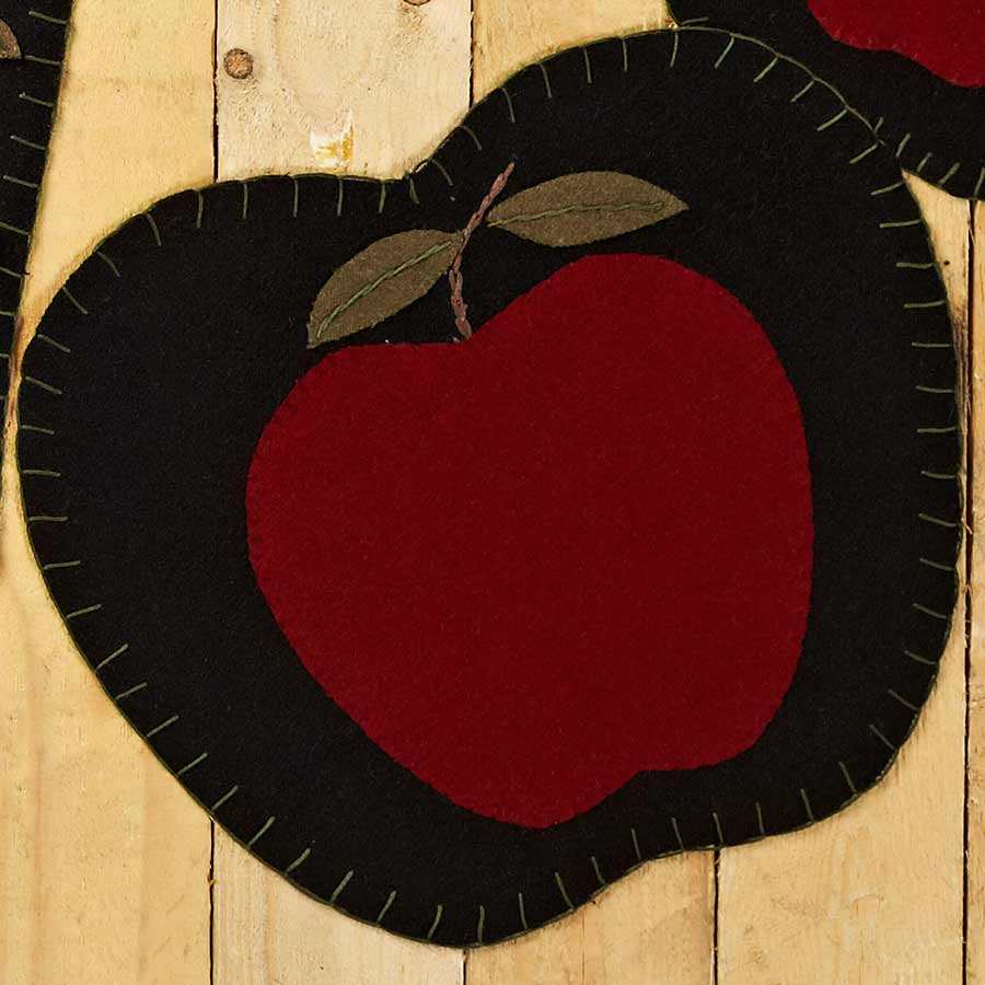 Apple shaped placemats set of 6