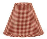 Newbury Red Gingham Lamp Shade, by Raghu.