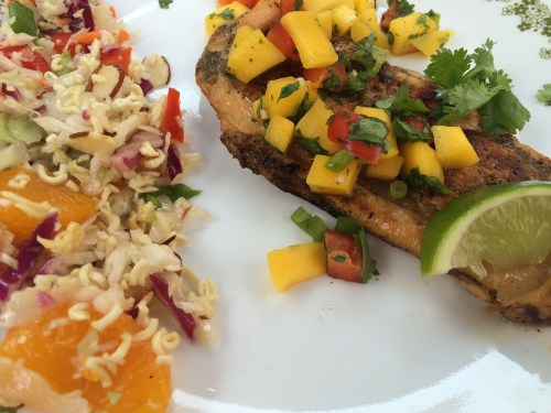 Grilled Honey Citrus Chicken with Mango Pepper Salsa