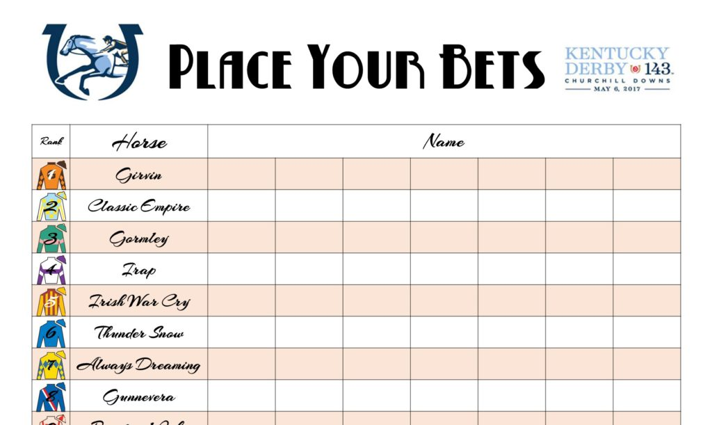 Free Kentucky Derby Printables The Well Dressed Table