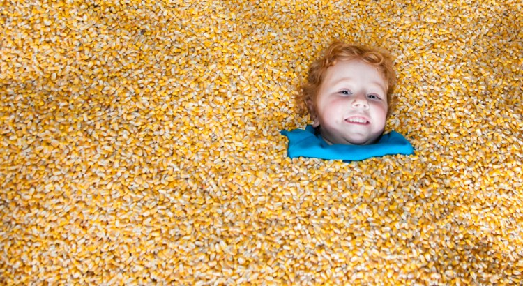 "In the corn pit.  It was a pit...with corn in it.  You were not allowed to throw the corn or climb.  Outside of that - everything was fair game.  We went for ""bury the Bean."""