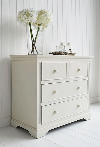 Rockport Ivory chest of drawers from The White Lighthouse - living room chest