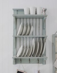 Wooden Plate Rack Uk & Vintage Blue Rustic Wall Plate Rack ...