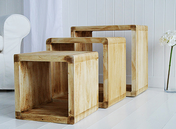 Driftwood Effect Nest Of Tables