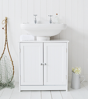 Undersink bathroom cabinets the white lighthouse