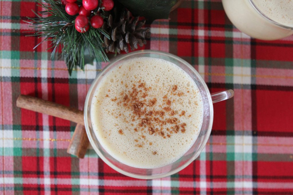 Dairy-free egg nog from the Whole Smiths. It tastes like the real deal!!! Paleo-friendly.