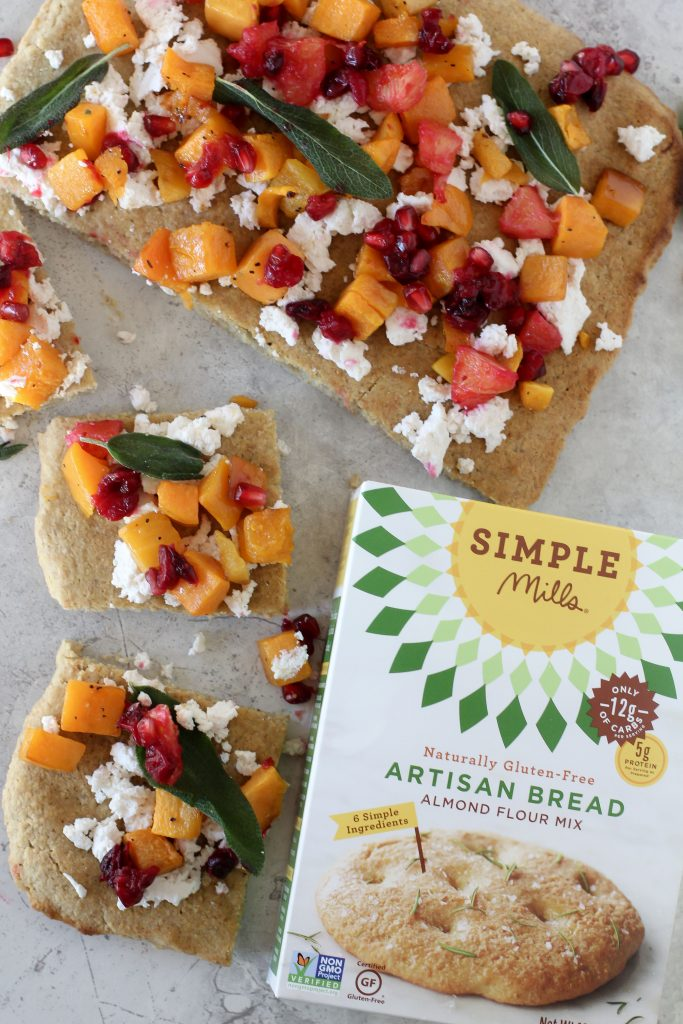 A must Pin! Easy to make grain-free Butternut Squash + Orange Cranberry Flatbread from the Whole Smiths. Paleo-friendly and gluten free.