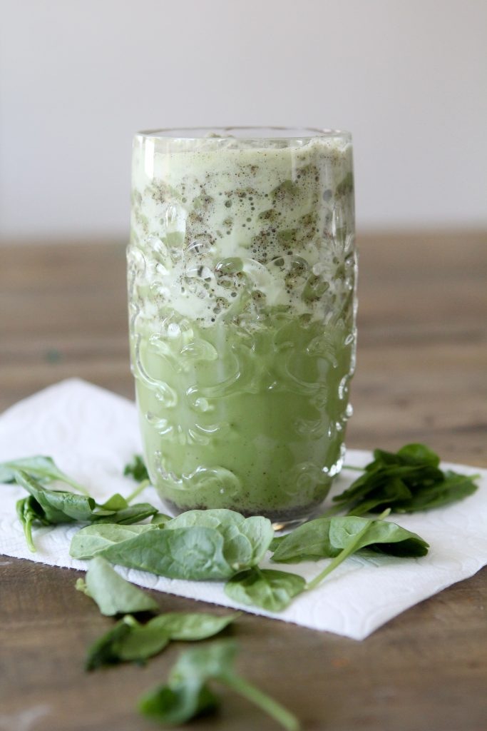 Spinach + Cacao Protein Shake from the Whole Smiths. Using Rootz Protein Superfood , it's a great on-the-go option for getting in extra protein and veggies.