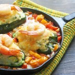 Potato-Stuffed Poblanos with Shrimp