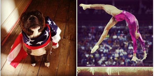 instagram_gabby_douglas_artistic_gymnast_gold_olympic_dream_london_2012_winner_american_flag_dog