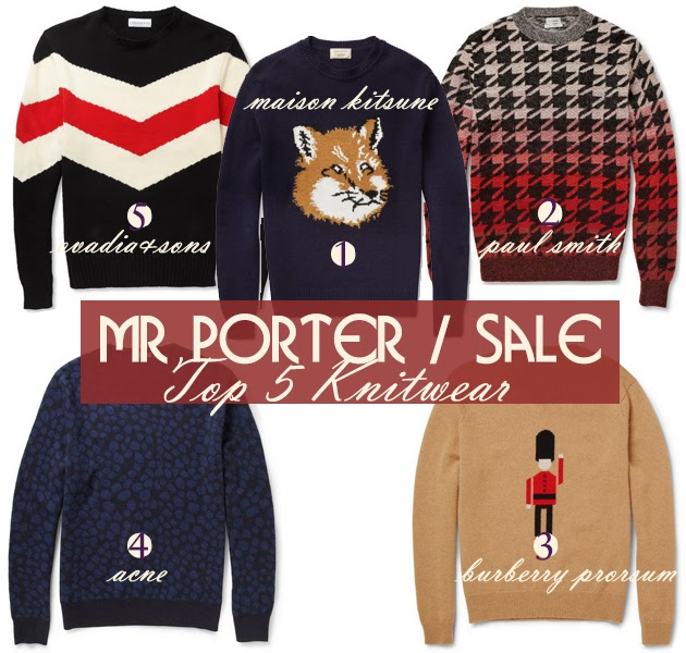 Mr porter sale top 5 must have knitwear selection - When does the mr porter sale start ...