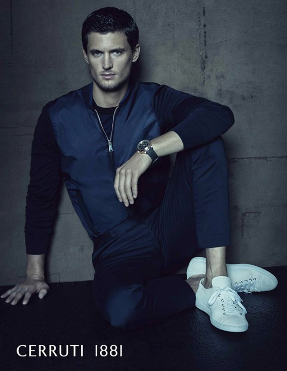American Model Garrett Neff is the face of Cerruti 1881 SS16 campaign