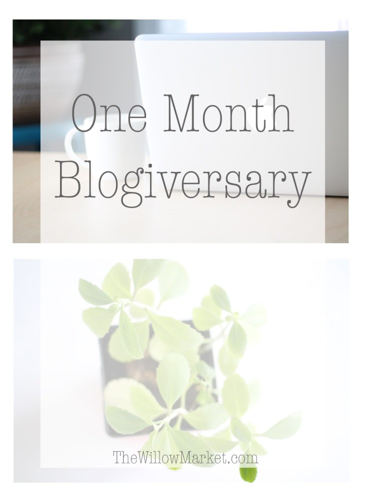 Blogging for one month. One month blogging anniversary.