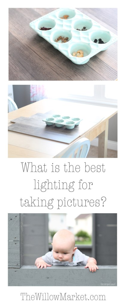 What is the best lighting for taking pictures? How to take good pictures for my blog.