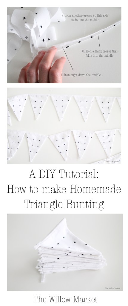Triangle Bunting. Triangle Garland. Decoration for a little boy room.