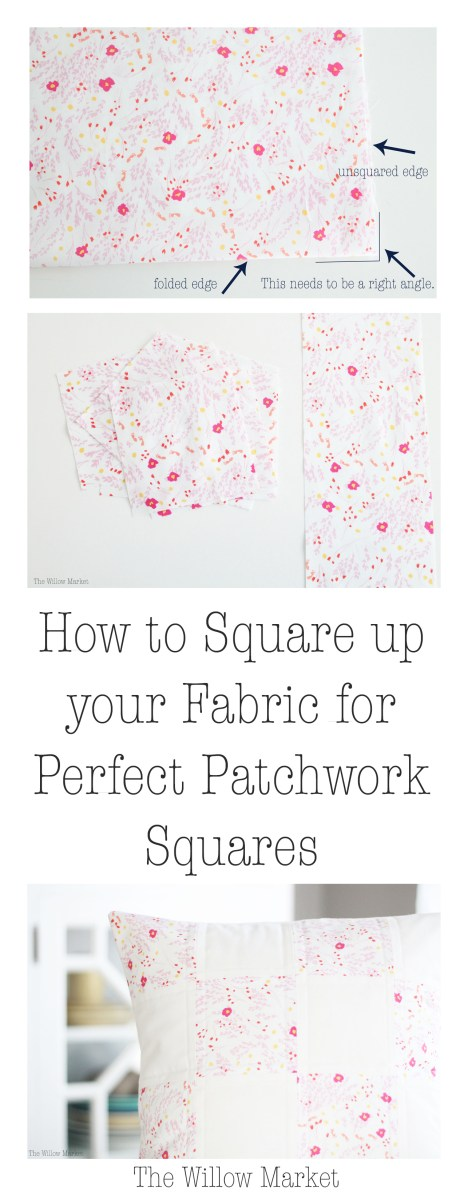 How to Square up your Fabric and Cut Perfect Patchwork Squares