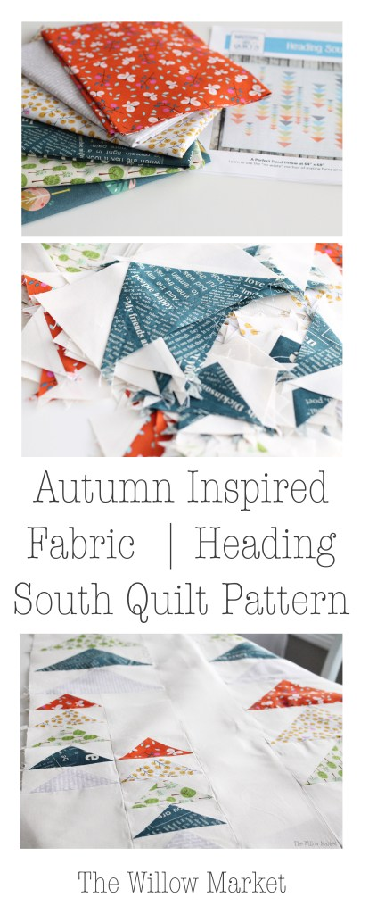 Fall Inspired Fabric, Heading South Quilt Pattern
