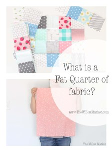 What is a fat quarter of fabric? Is it better than a normal quarter of fabric?