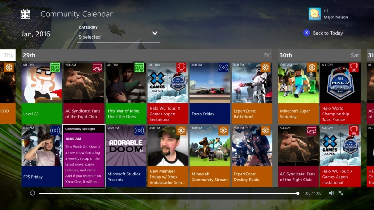 Calendar Illustration Xbox One : Community calendar app now available to download for xbox